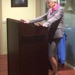 President Hunter addressing the class