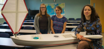 Marine Sciences undergrads demo unmanned sailboat