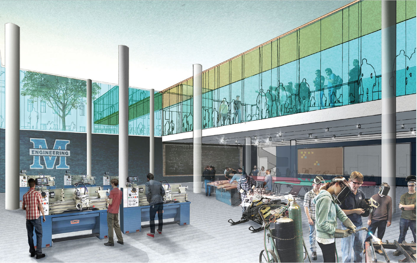 Rendering of Engineering Facility