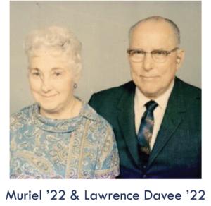 Muriel '22 & Lawrence Davee '22