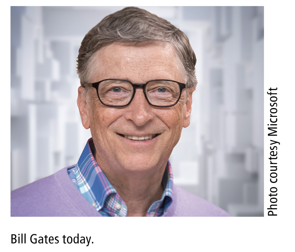 Bill Gates today. Photo courtesy Microsoft