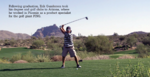 Photo of Erik Gunderson playing Golf