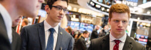 Members of the Student Portfolio Investment Fund gain real-world experience with investments. They also participate in the annual GAME Forum in New York City and visit the New York Stock Exchange