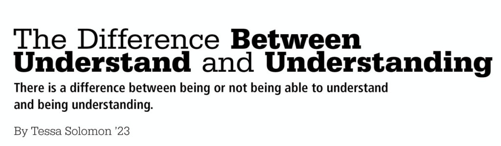 The Difference between Understand and Understanding title card